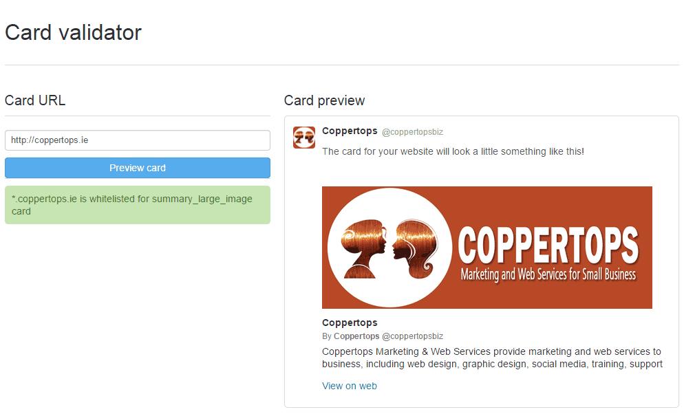TwitterCardValidator