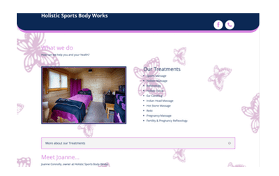 Holistic Sports Body Works Web Design