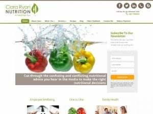 ciara ryan nutrition website design