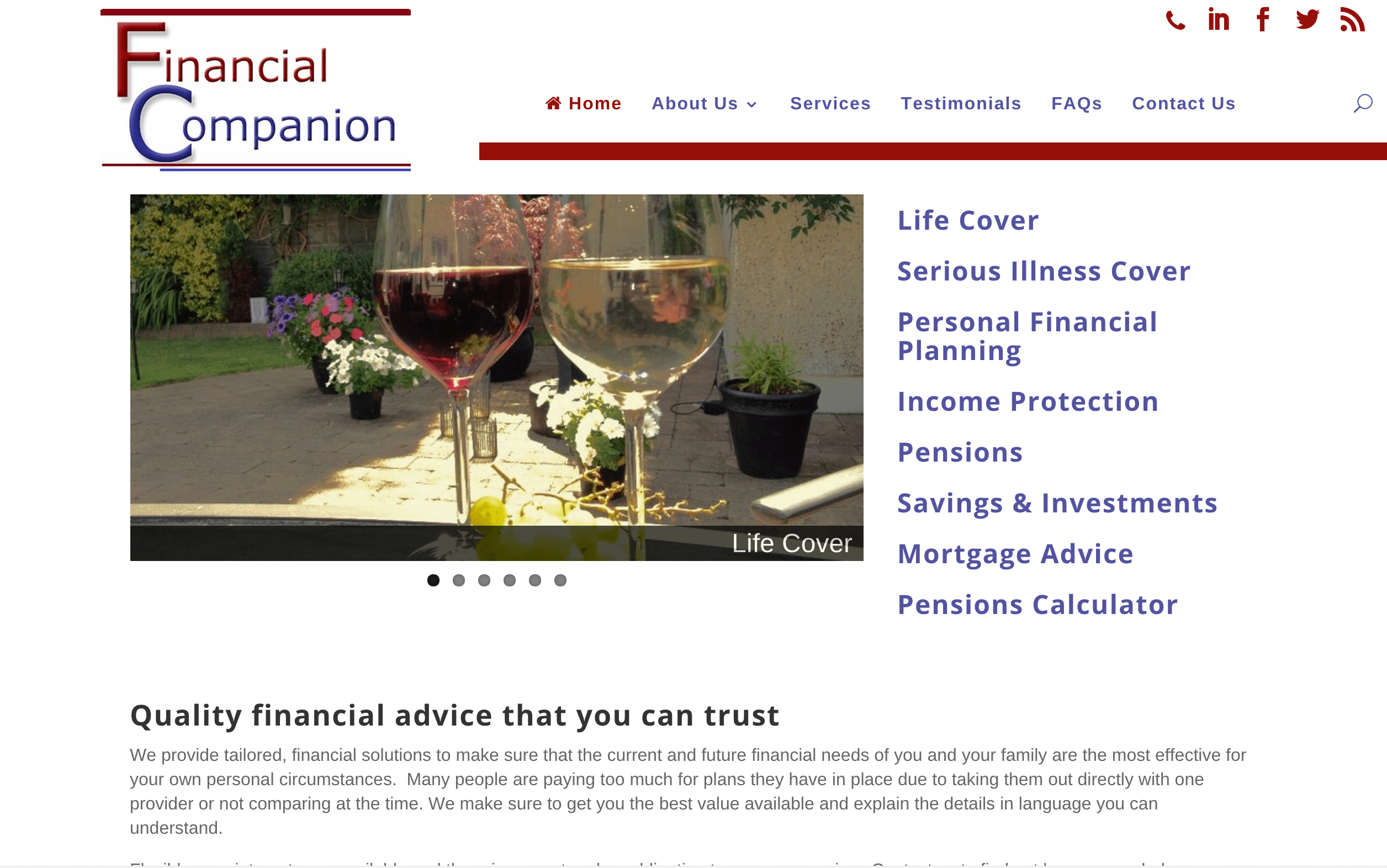 Financial Companion Web Design
