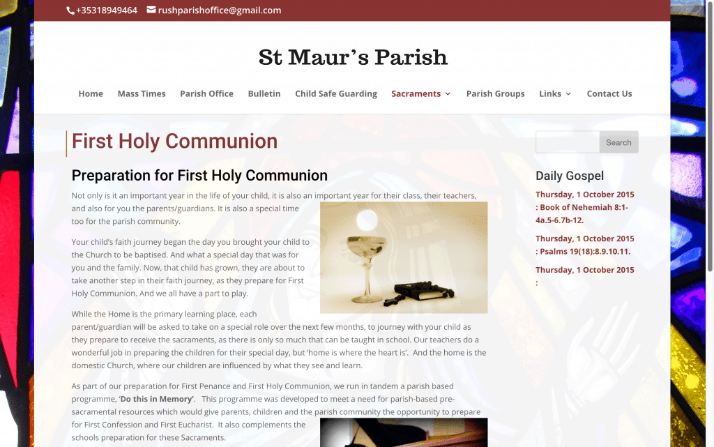 St Maurs Parish, Rush Web Design