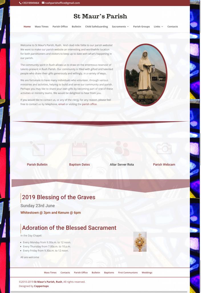Rush Parish Web Design