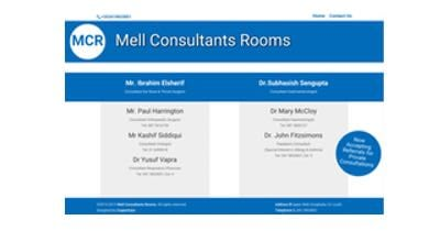 Mell Consultant Rooms Web Design