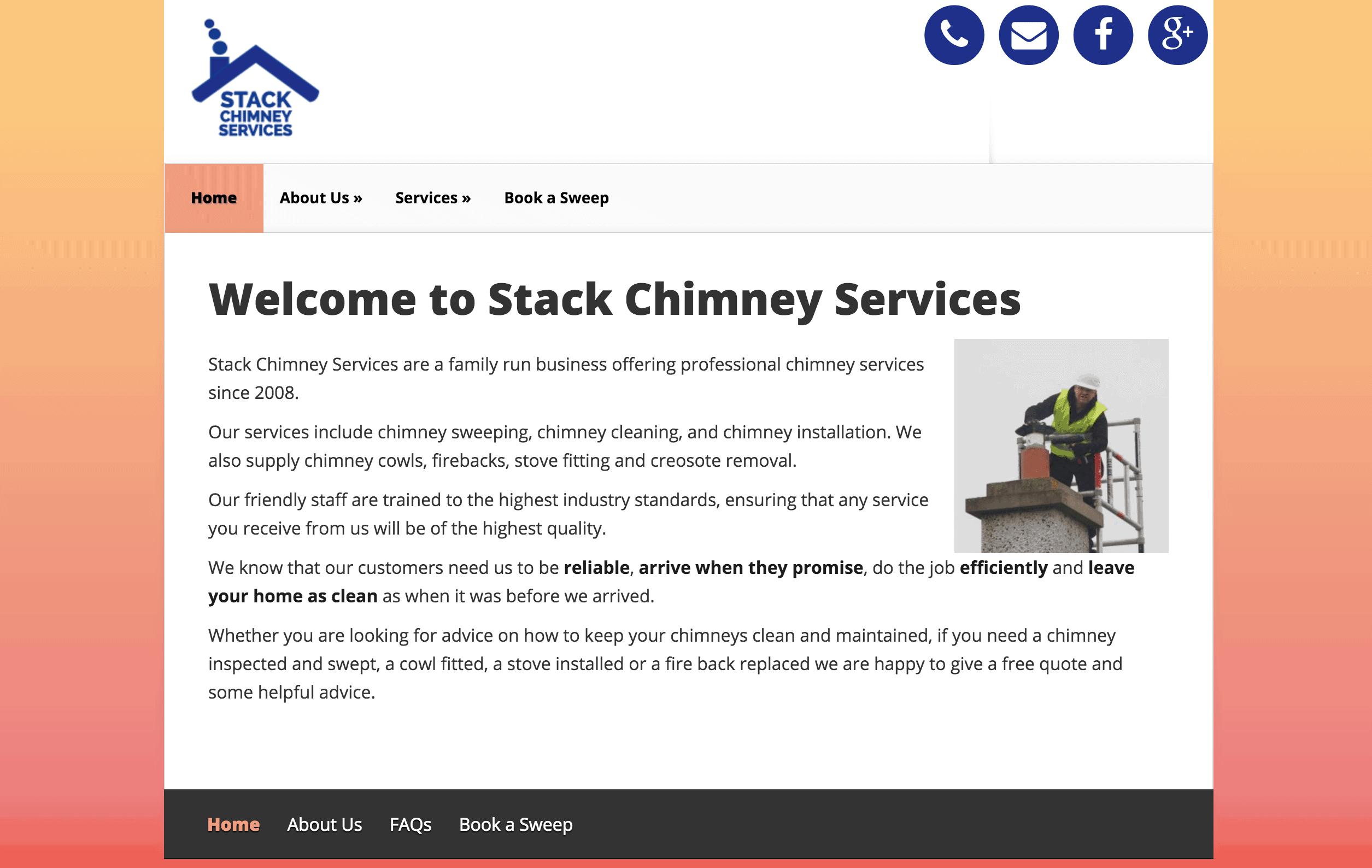 Stack Chimney Services Web Design