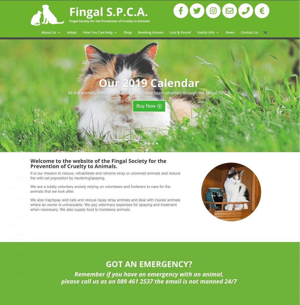 Fingal SPCA Web Design