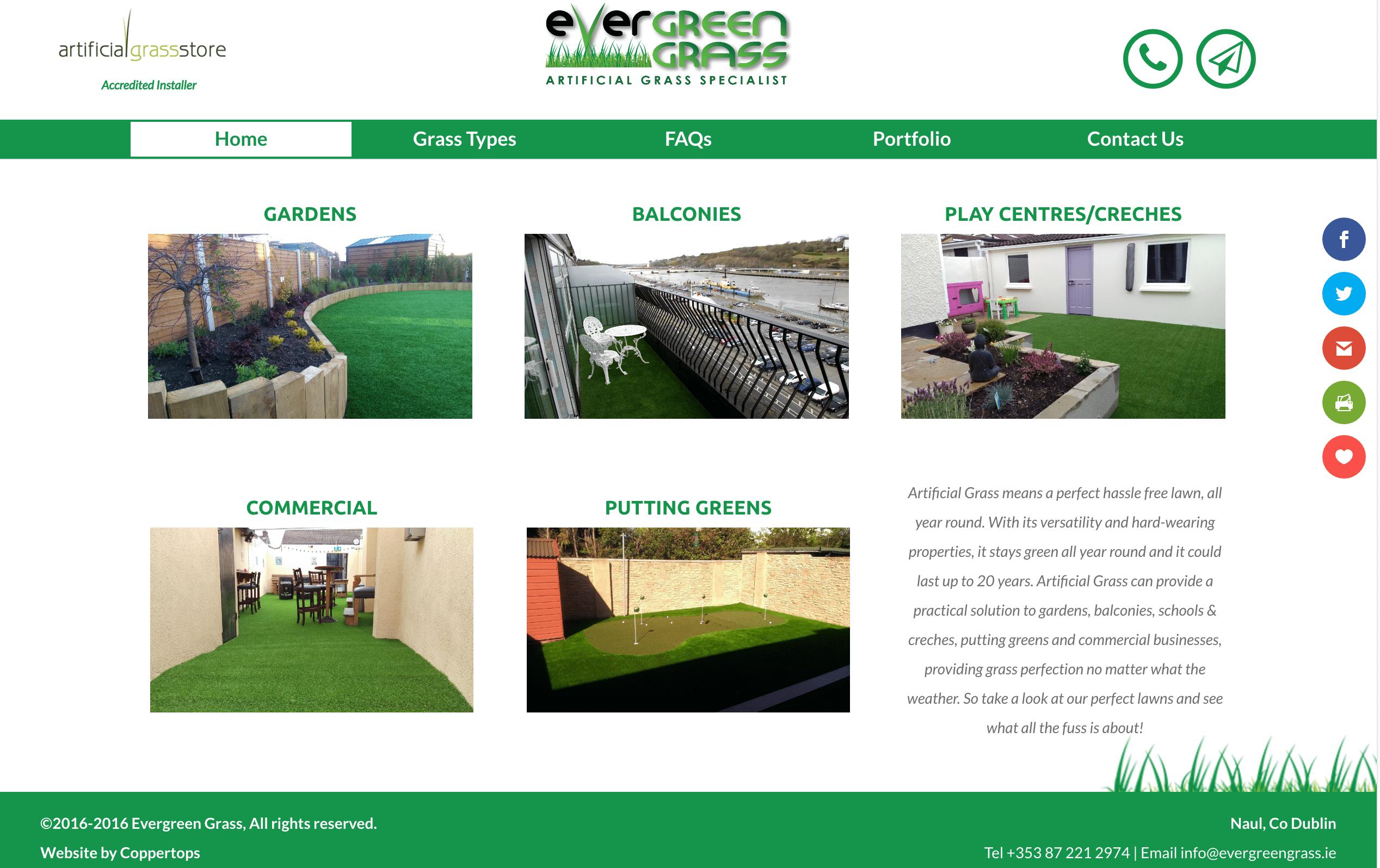 Evergreen Grass Web Design