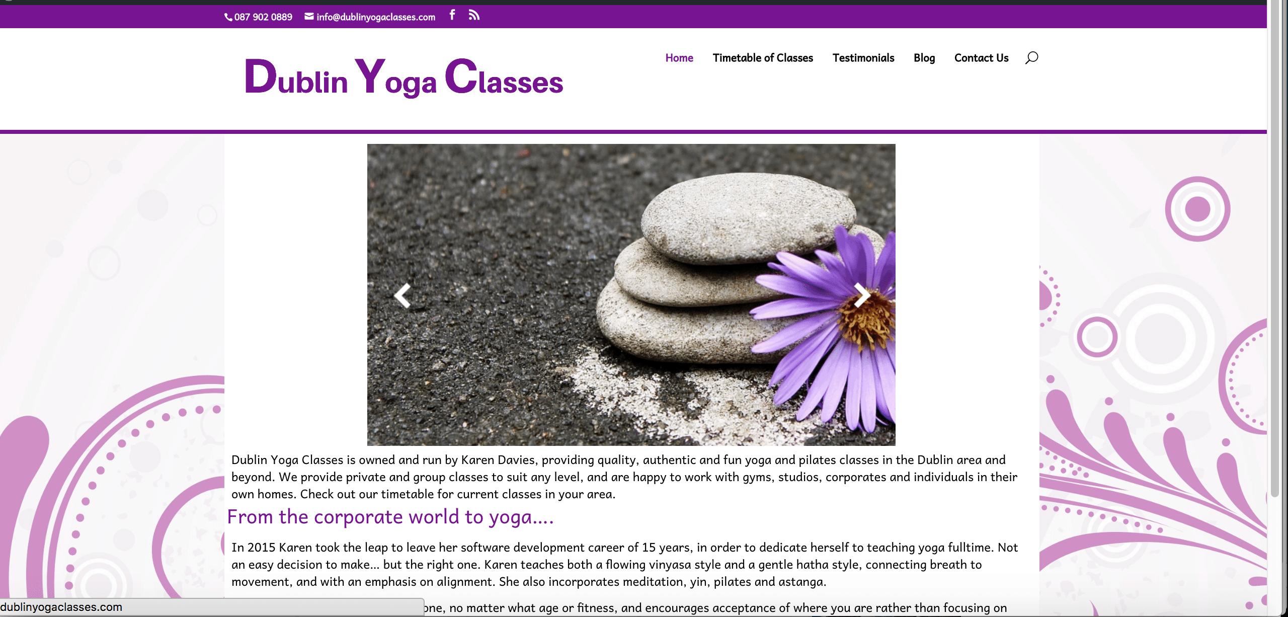 Dublin Yoga Classes Web Design