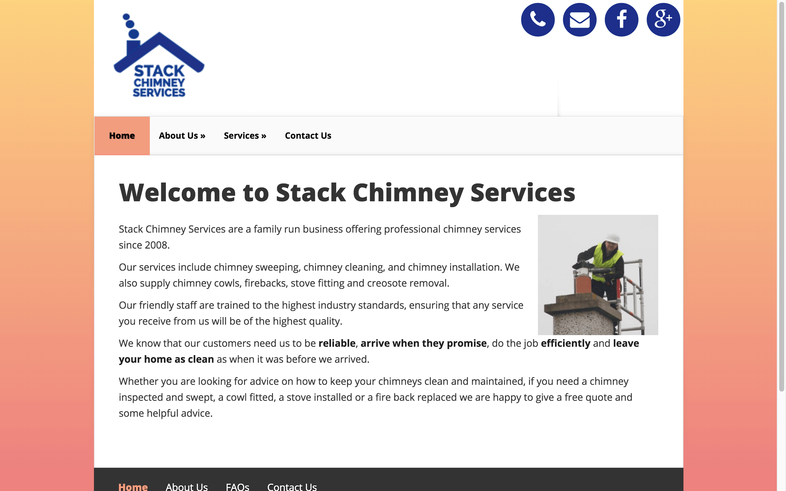 Stack Chimney Services Web Design