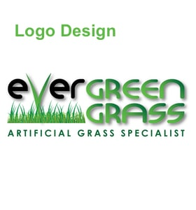 evergreen grass logo design