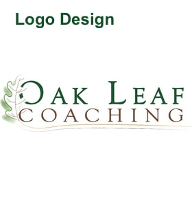 oak leaf coaching logo design