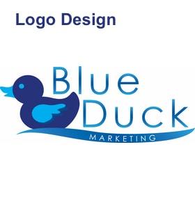 blue duck marketing logo design