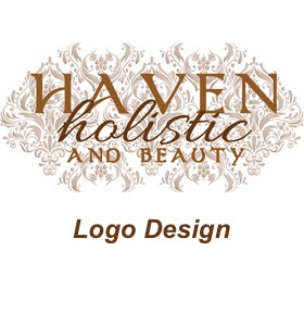 haven holistic and beauty logo design