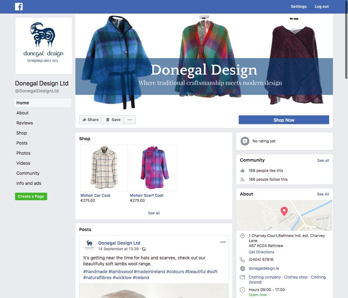 Donegal Design Facebook Setup