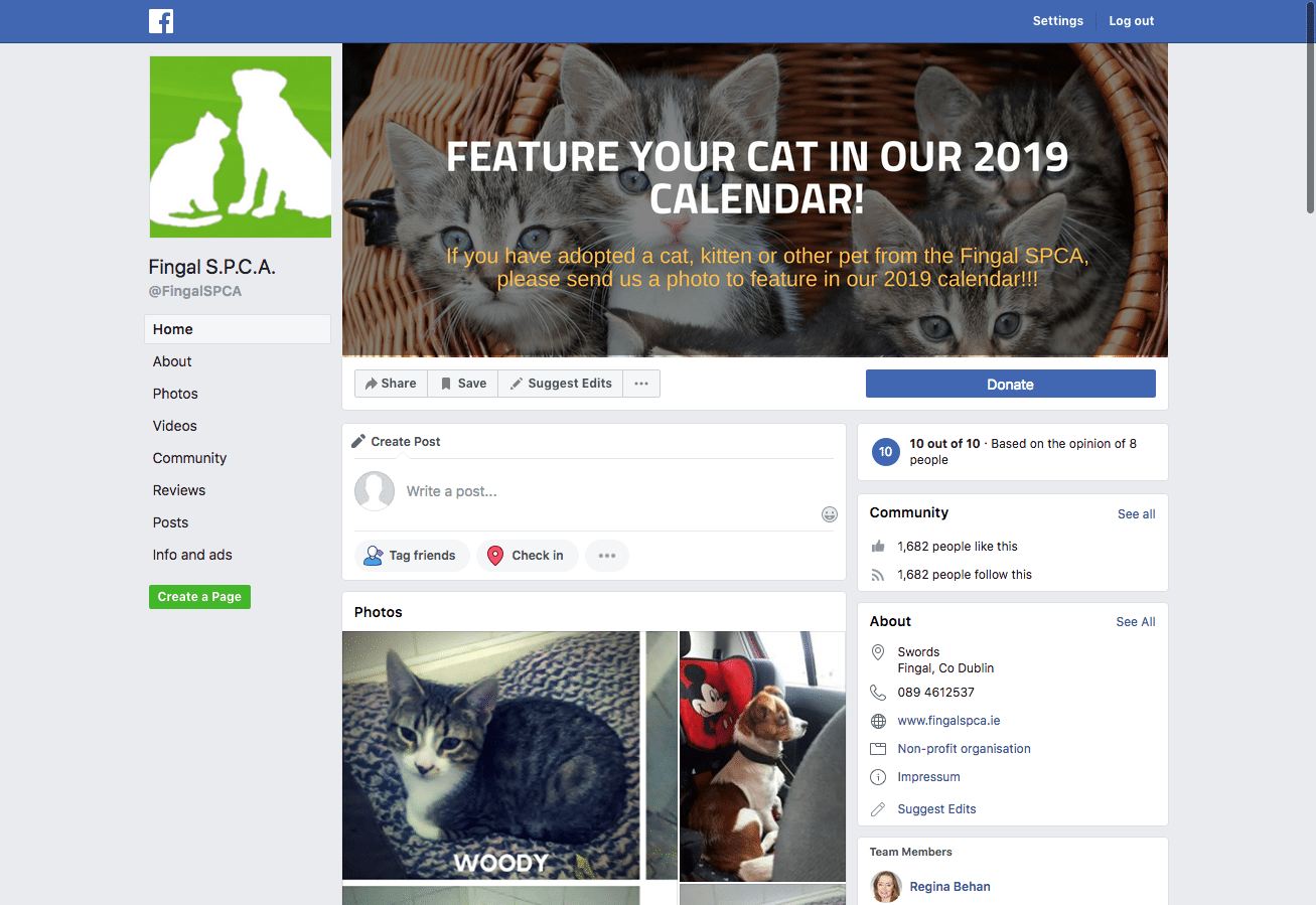 Fingal SPCA Facebook Setup