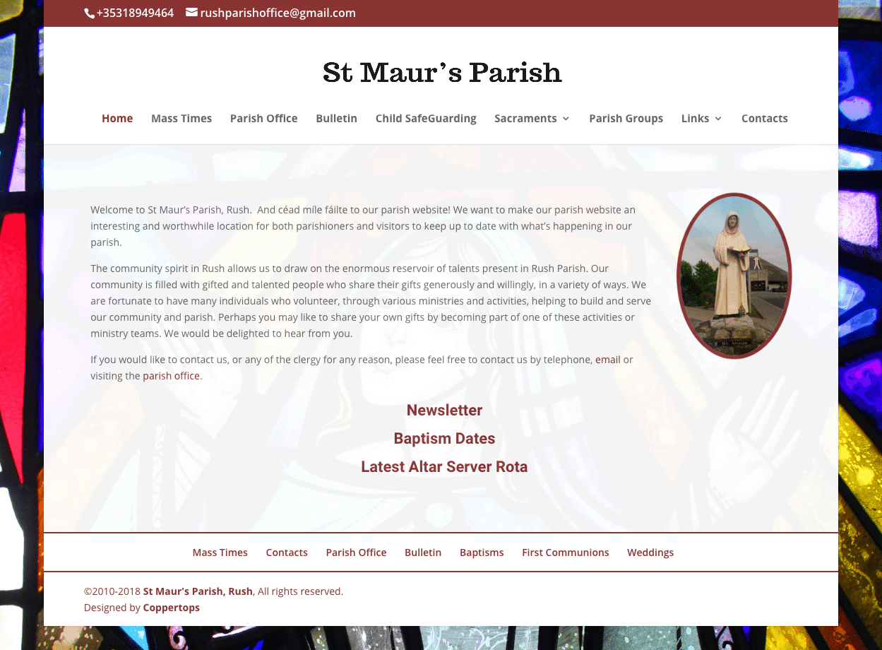 St Maurs Parish, Rush Web Design