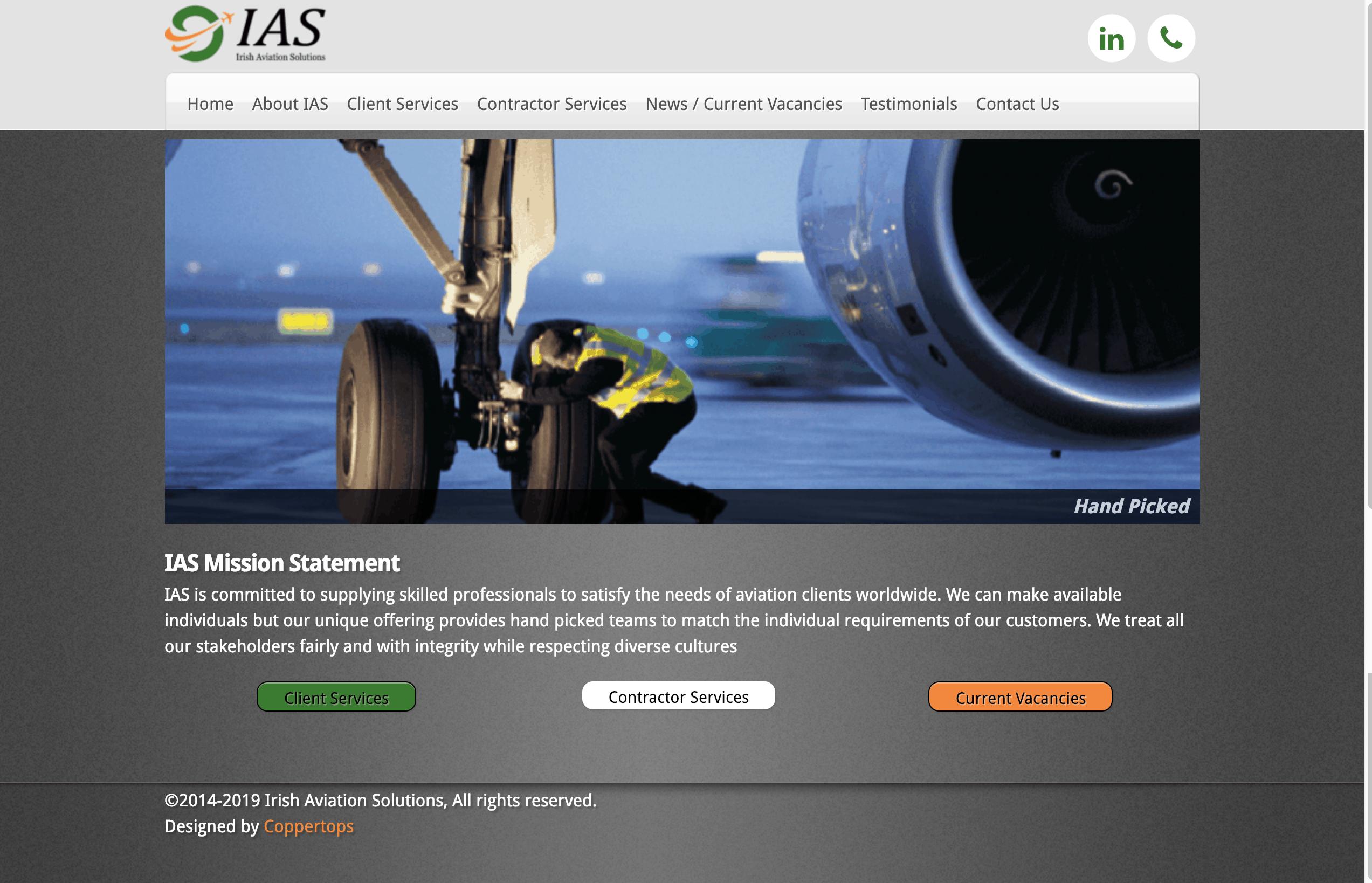 Irish Aviation Solutions Web Design