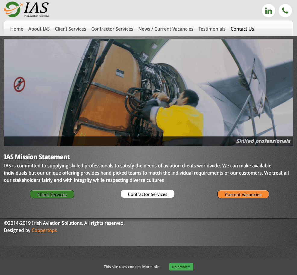Irish Aviation Solutions Web Design