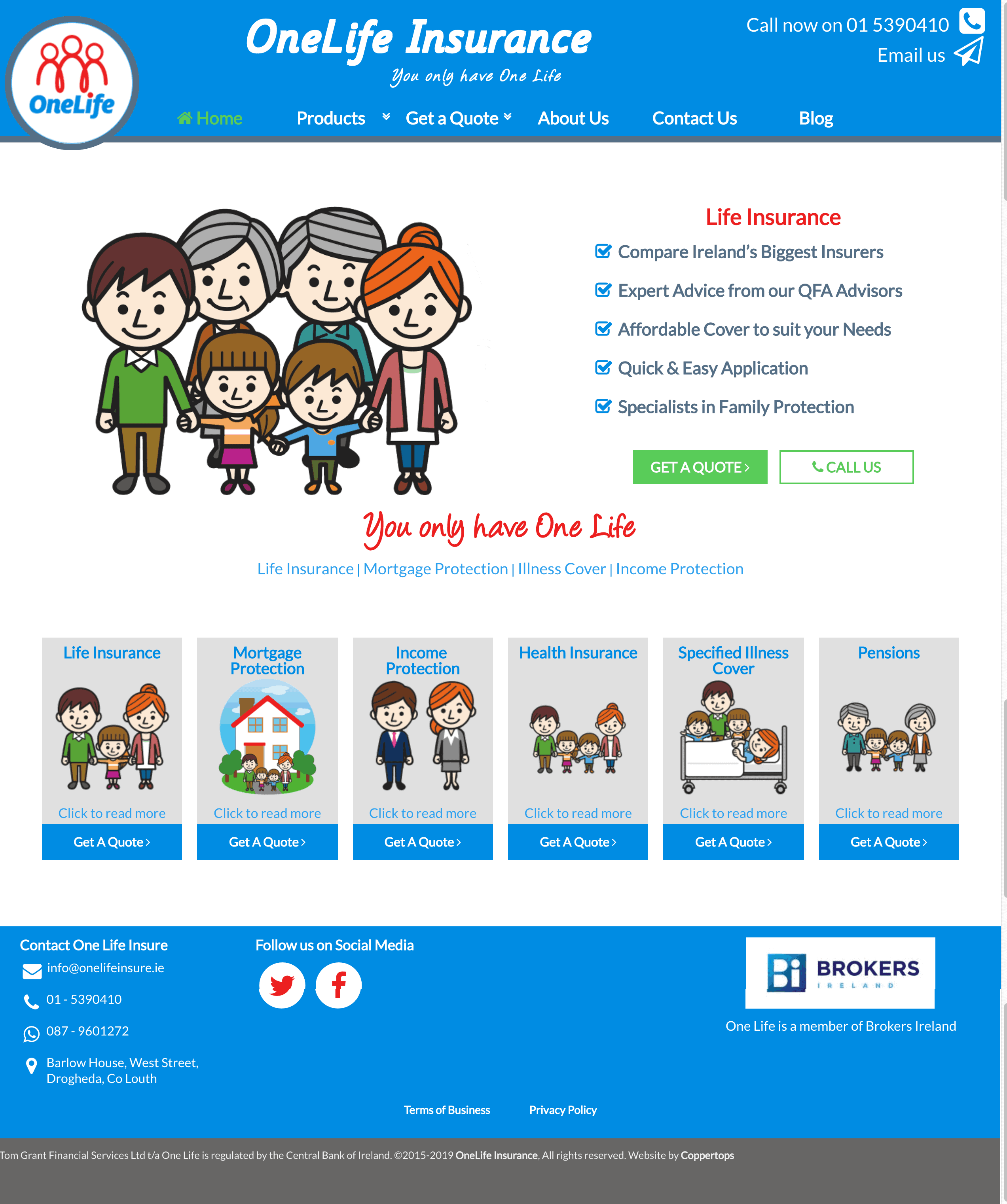 One Life Insure Web Design