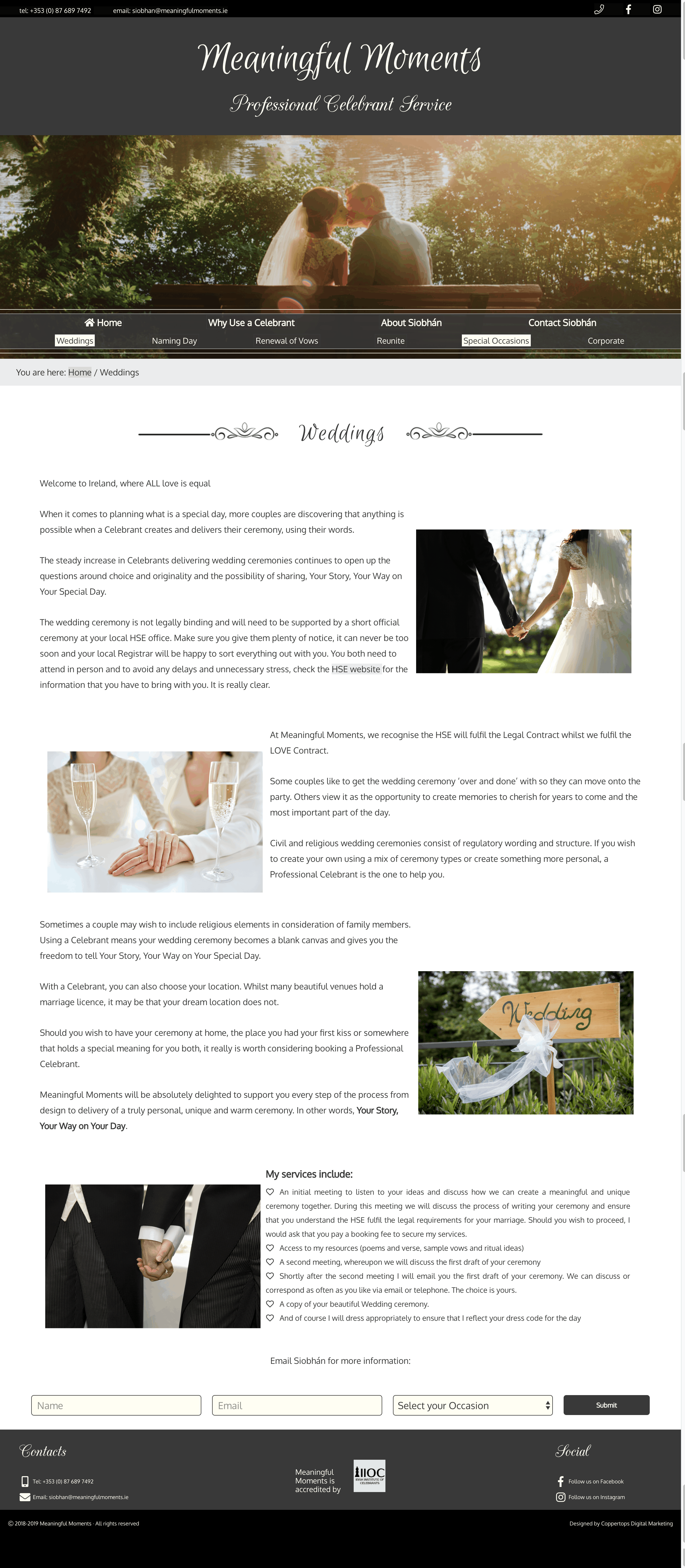 Meaningful Moments Web Design