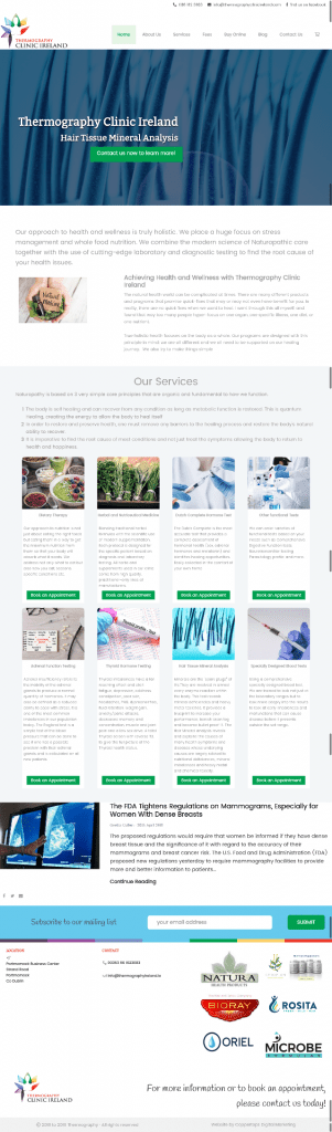 Thermography Clinic Ireland Web Design