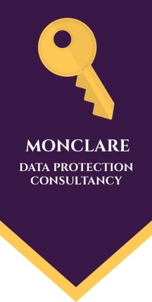 monclare data protect logo design