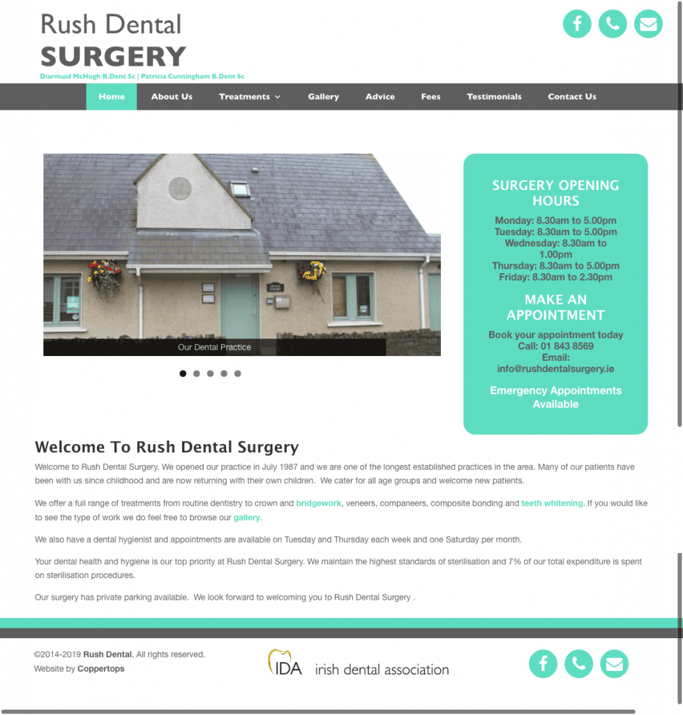 Rush Dental web design