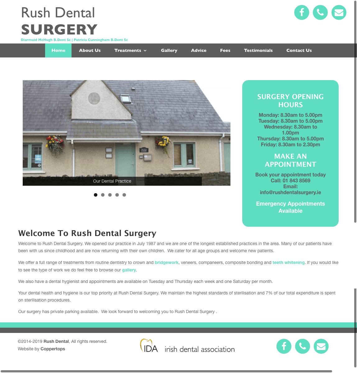Rush Dental web design