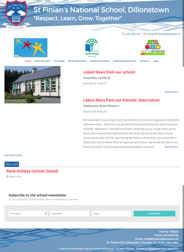 St Finians National School Web Design