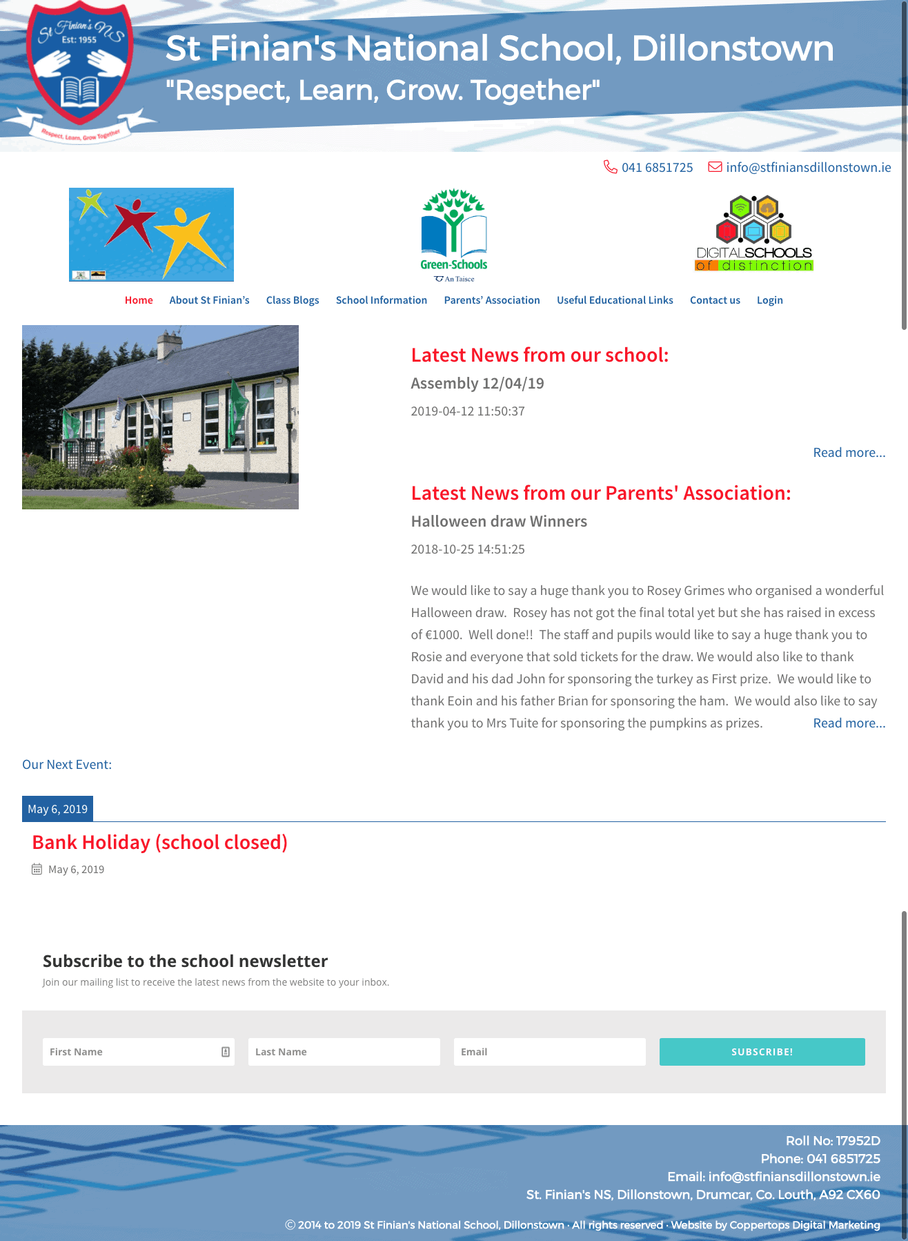 St Finians National School Web Design