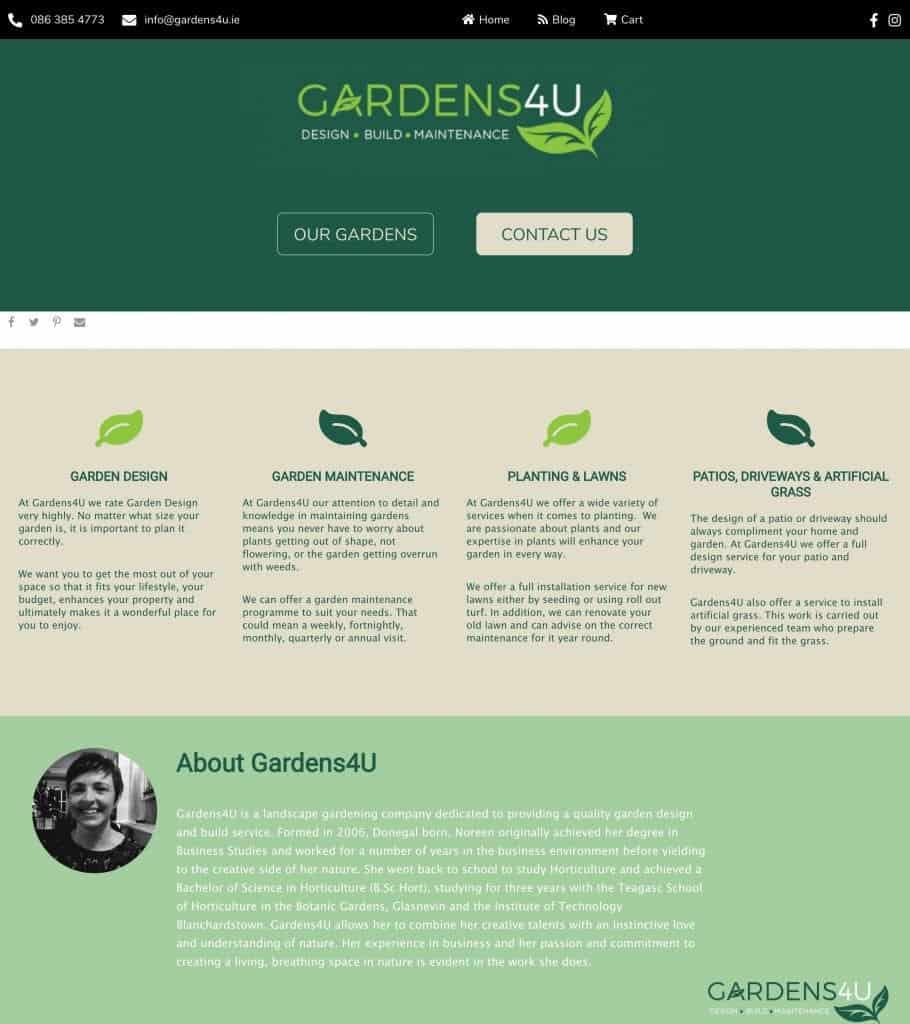 gardens4u web design