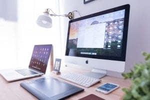 desktop on desk