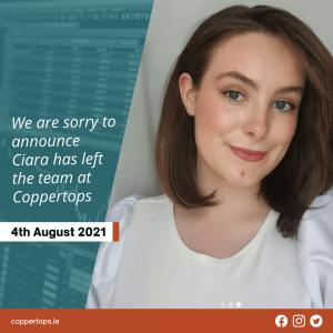 Ciara Geasley resignation from Coppertops